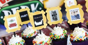 Friends TV Show Cupcakes and Toppers