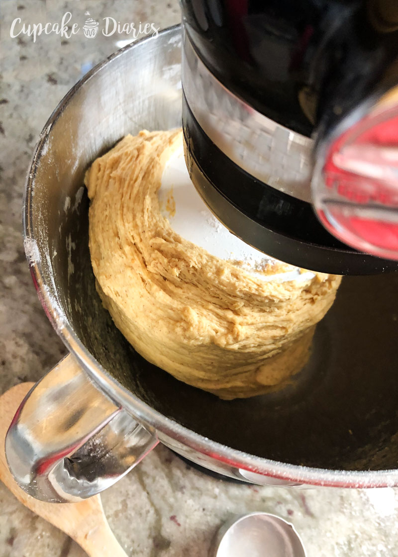 Ever wonder how to know if your dough is ready to come out of the mixer? It looks like this!