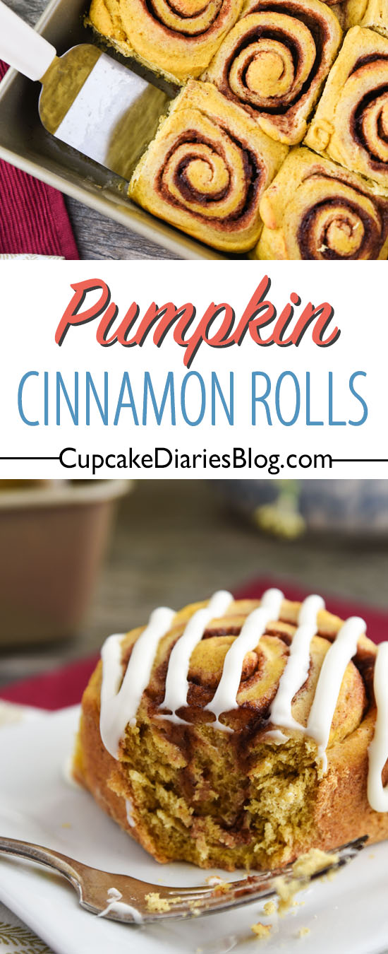 Pumpkin Cinnamon Rolls have never been so easy! You'll love making this delicious fall treat topped with cream cheese glaze. A great recipe for beginners!