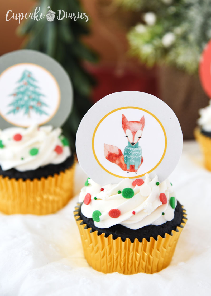 Rudolph and Friends Cupcakes for Christmas celebrations!