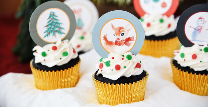 Rudolph and Friends Christmas Cupcakes