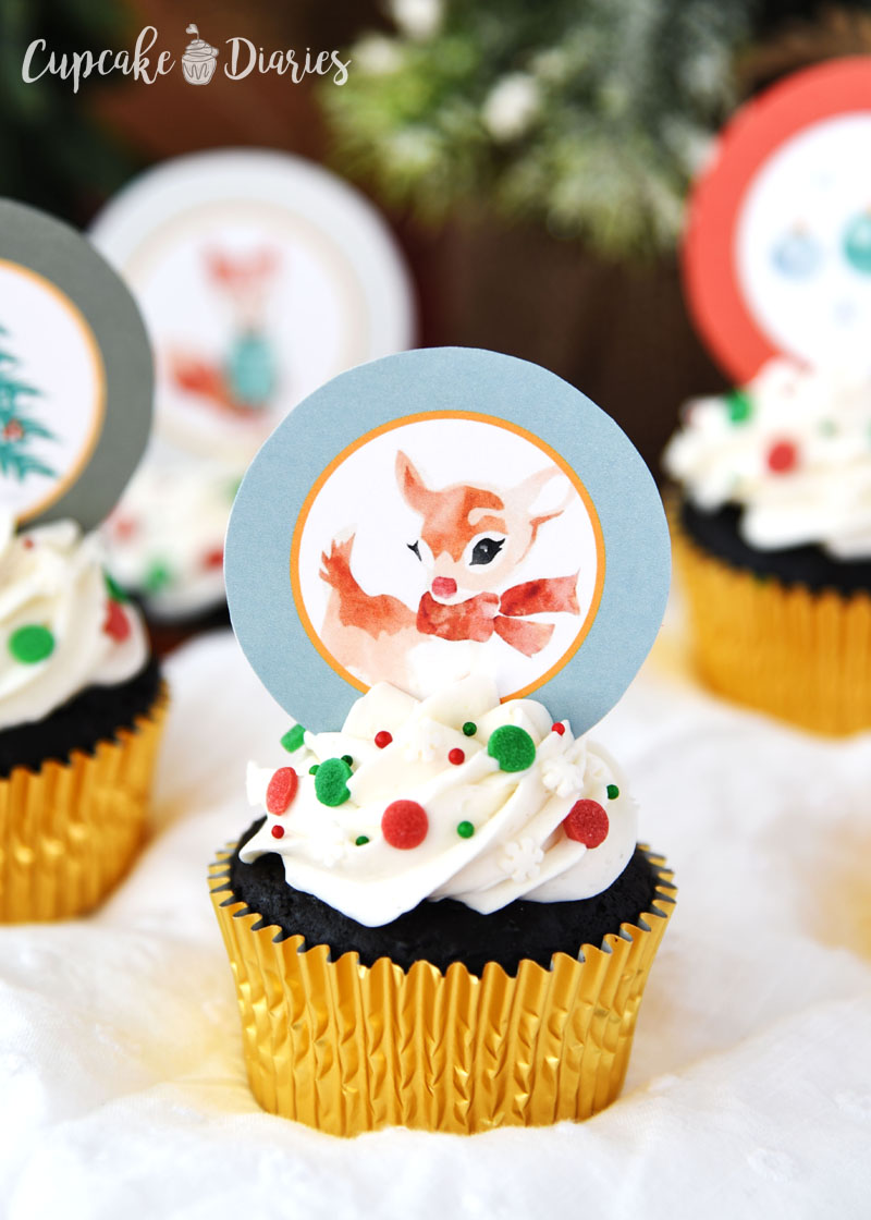 Rudolph is a classic character who belongs on a cupcake!