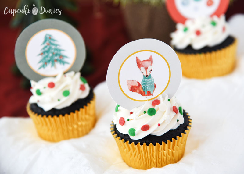 Rudolph has many forest friends depicted on these whimsical toppers!