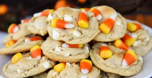 White Chocolate Candy Corn Cookies