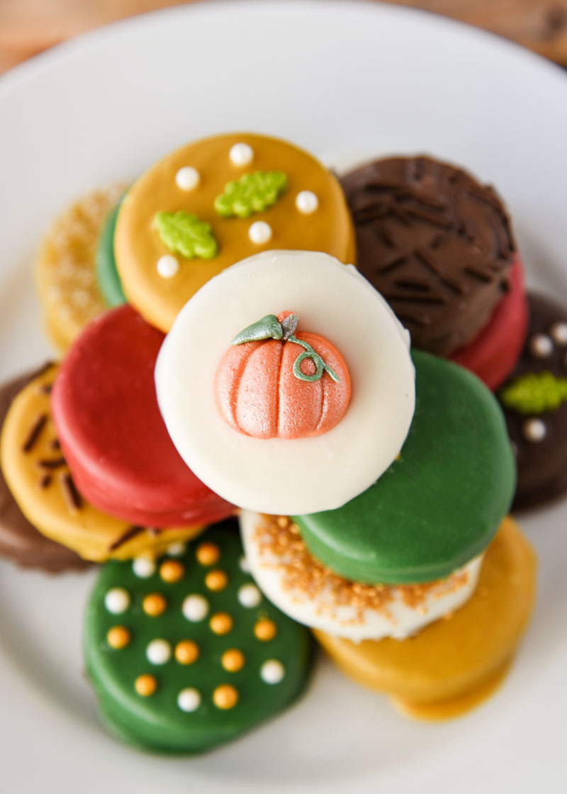 Beautiful dipped Oreos for your Thanksgiving dessert table! Isn't Thanksgiving a wonderful holiday?